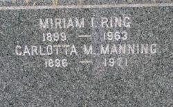 Miriam I <i>Ring</i> Manning