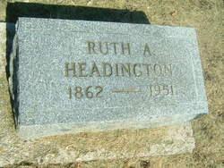Ruth A. <i>Broughman</i> White Headington