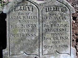 Elizabeth Portia Lizzie <i>Anderson</i> Allen