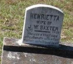 Henrietta <i>Williams</i> Baxter