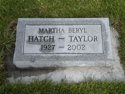 Martha Beryl <i>Hatch</i> Taylor