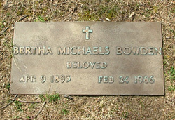 Bertha <i>Michaels</i> Bowden