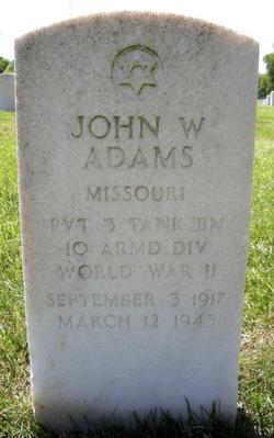 Pvt John W. Adams