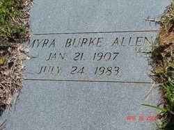 Myra <i>Burke</i> Allen