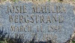 Josie Matilda Bergstrand