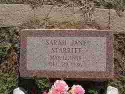 Sarah Jane <i>Vinson</i> Starritt