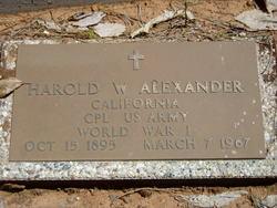 Harold W Alexander