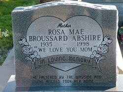 Rosa Mae <i>Broussard</i> Abshire