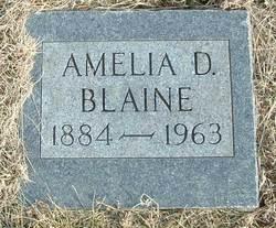 Amelia D <i>Lang</i> Blaine