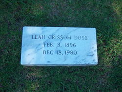 Leah Lucille <i>Grissom</i> Doss
