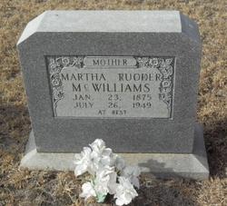 Martha Mattie <i>Rudder</i> McWilliams