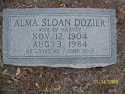 Alma <i>Sloan</i> Dozier