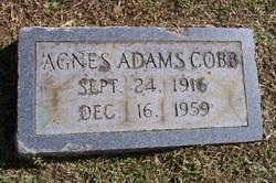 Agnes <i>Adams</i> Cobb