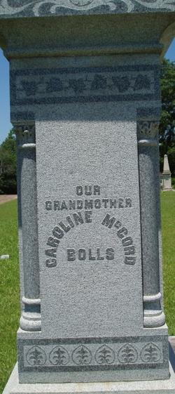 Caroline McCord Bolls