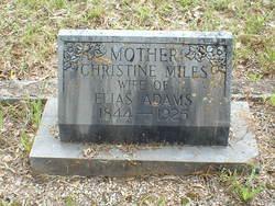 Christine <i>Miles</i> Adams