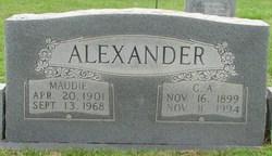 Maudie Lee <i>Gaddy</i> Alexander