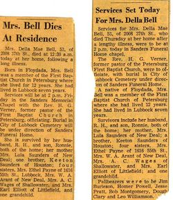 Della Mae <i>Saunders</i> Bell