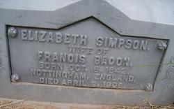 Elizabeth <i>Simpson</i> Bacon