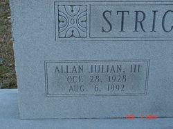 Allan Julian Strickland, III