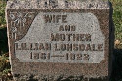 Lillian Marie Lillie <i>Manville</i> Lonsdale