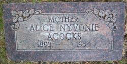 Alice Nevonie <i>Snyder</i> Acocks