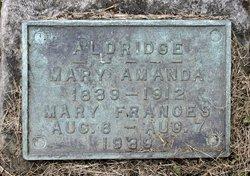 Mary Amanda <i>Leasure</i> Aldridge