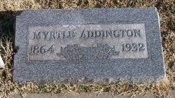 Cora Myrtle <i>Maxey</i> Addington