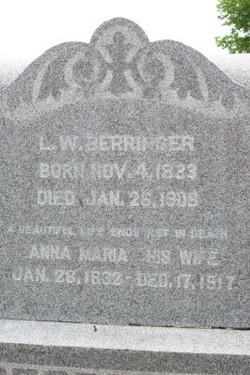 Anna Maria Mary <i>Metzger</i> Berringer
