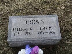 Freeman G Brown