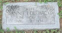 Annie Lou <i>Stroud</i> Back