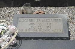 Alice <i>Griner</i> Alexander