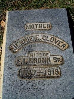 Mrs Jennie E. <i>Glover</i> Brown