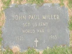 Sgt John Paul Miller