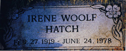 Irene <i>Woolf</i> Hatch