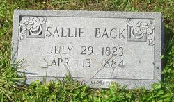 Sarah Sallie <i>Caudill</i> Back