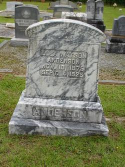 Lula <i>Watson</i> Anderson