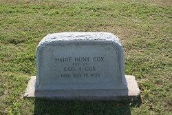 Hadie <i>Hunt</i> Cox