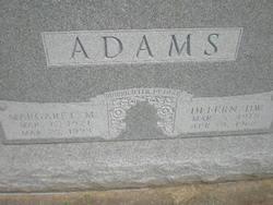 Margaret M <i>Badger</i> Adams