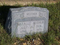 Paralee Jane <i>Brown</i> Authur