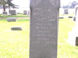 Mary Martha <i>Luster</i> Phillips