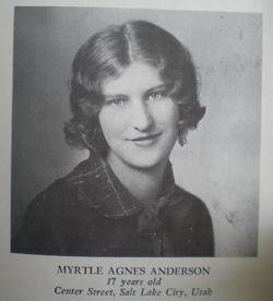 Myrtle Agness <i>Anderson</i> Foster