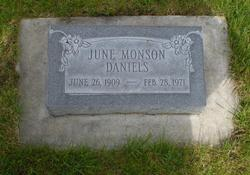 June <i>Monson</i> Daniels