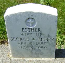 Esther Amelia <i>Wade</i> McBee