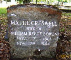 Mattie <i>Creswell</i> Bowen