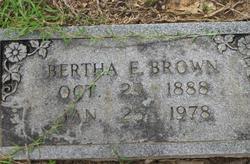Bertha E. <i>Nettles</i> Brown