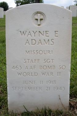 Sgt Wayne E. Adams