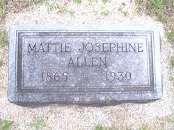 Martha Josephine Mattie Allen