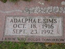 Adalpha <i>Sims</i> Drane