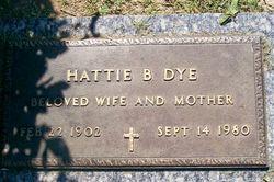 Hattie Bertie <i>Thompson</i> Dye