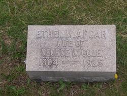 Ethel M <i>Apgar</i> Cole